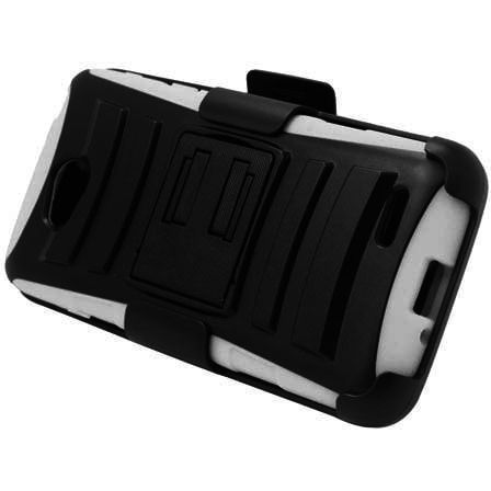 EGC LG Optimus L90 Case Advanced Armor Holster Combo - White