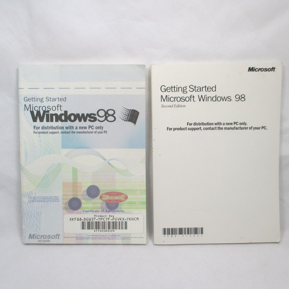 Microsoft Windows 98 Getting Started Manuals Lot of 2