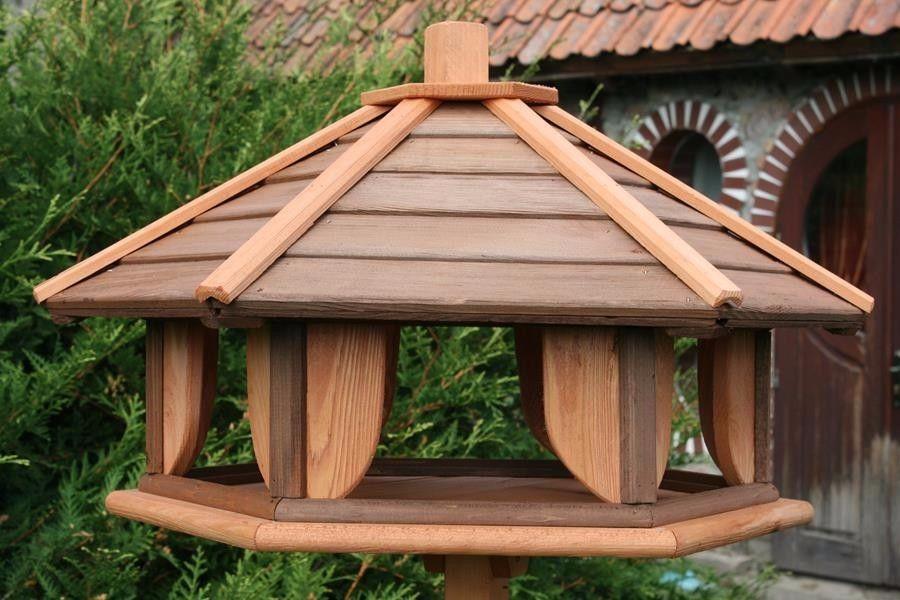 VOGELHAUS aus HOLZ Vogelhäuser mit Ständer Vogelhäuschen  Vogelfutterhaus XXL!