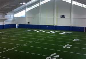 Image Detail For Duke University Indoor Football Practice Facility Opened 2011 Football Field Indoor Leather Couches For Sale