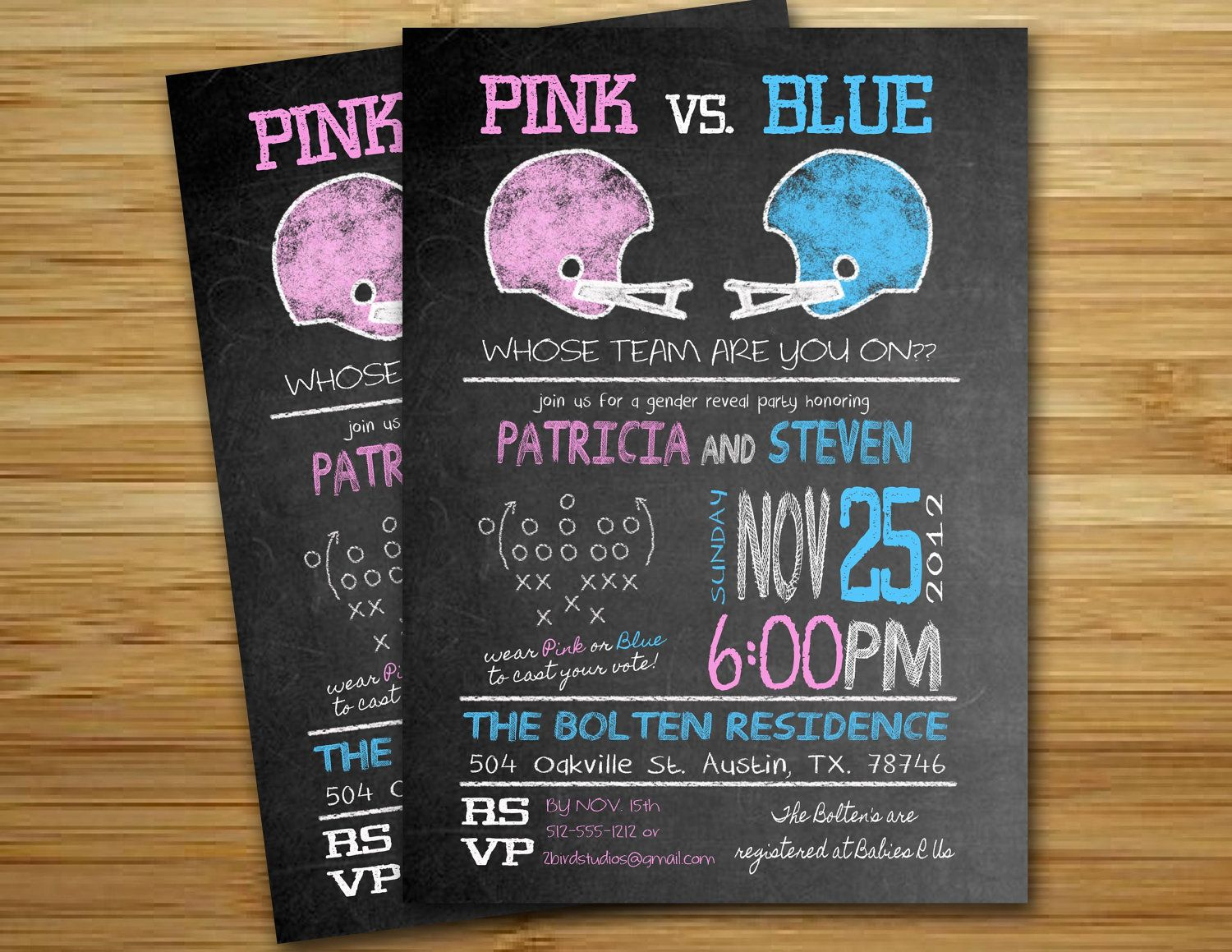 clever baby shower invitation wording%0A Gender reveal invitation Football Baby shower  boy  girl  gender neutral  reveal invite