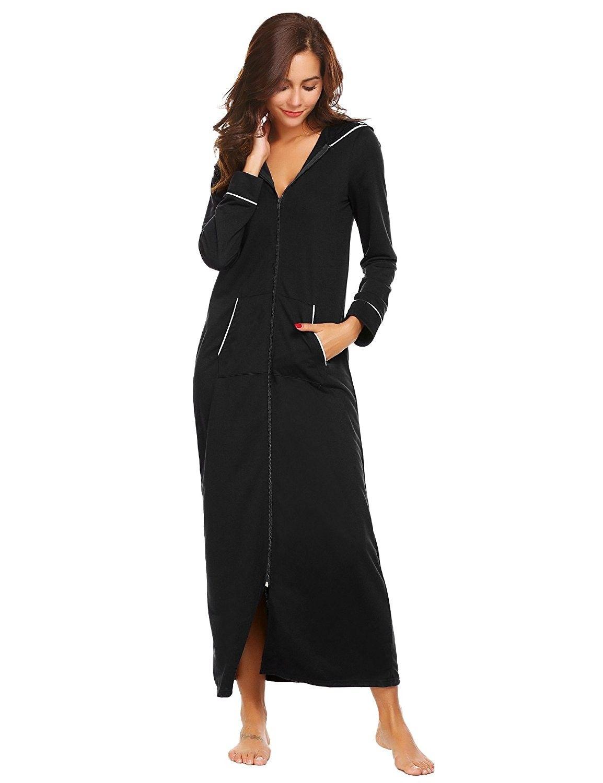 ekouaer sleepshirt nightgown dress 34 sleeve lace trim high low ... e7995e474