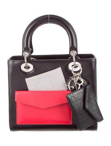 Christian Dior Pockets Medium Lady Dior Bag  98bed65156b59