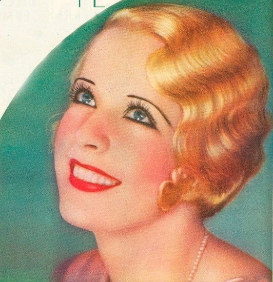 Marcel Waves and Finger Waves Hairstyles of the 1920s | 1930s makeup, 1930s  hair, Vintage makeup