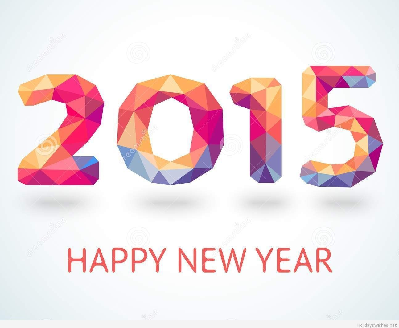 Wish 2015 happy new year from my awesome sister pamela pins happy new year 2015 colorful greeting card made in polygonal origami style vector illustration for holiday design party poster greeting c kristyandbryce Choice Image