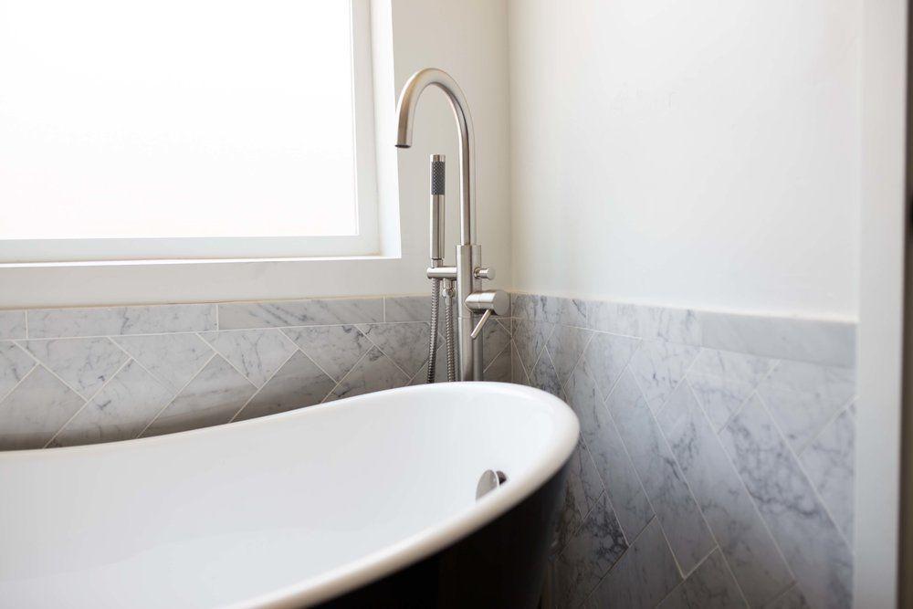 Signature Hardware soaking tub and tub filler faucet | FlippinWendy ...