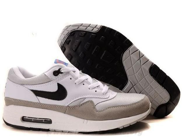 new product 78505 2c1c5 Blanc Medium Gris Neutral Gris Noir 308866-104 Nike Air Max 1 Hommes