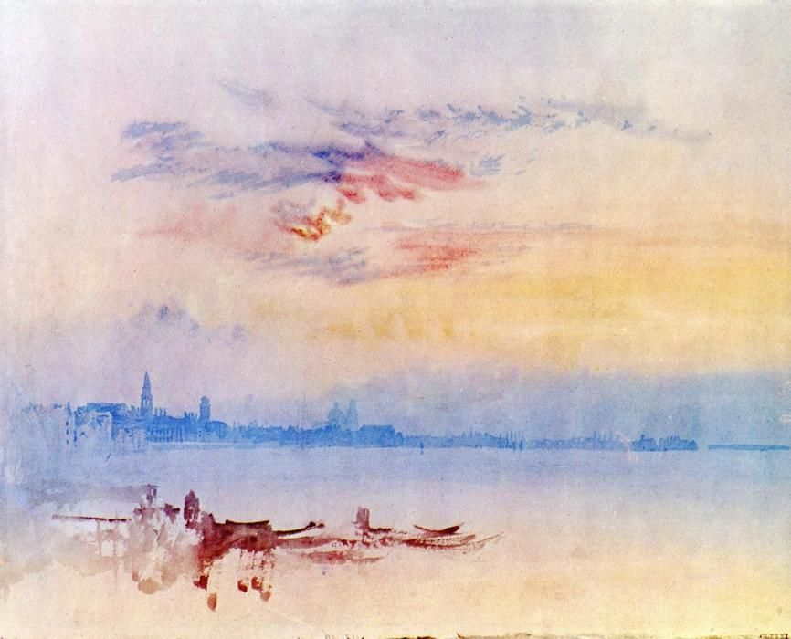William Turner Venice Looking East From The Guidecca Sunrise