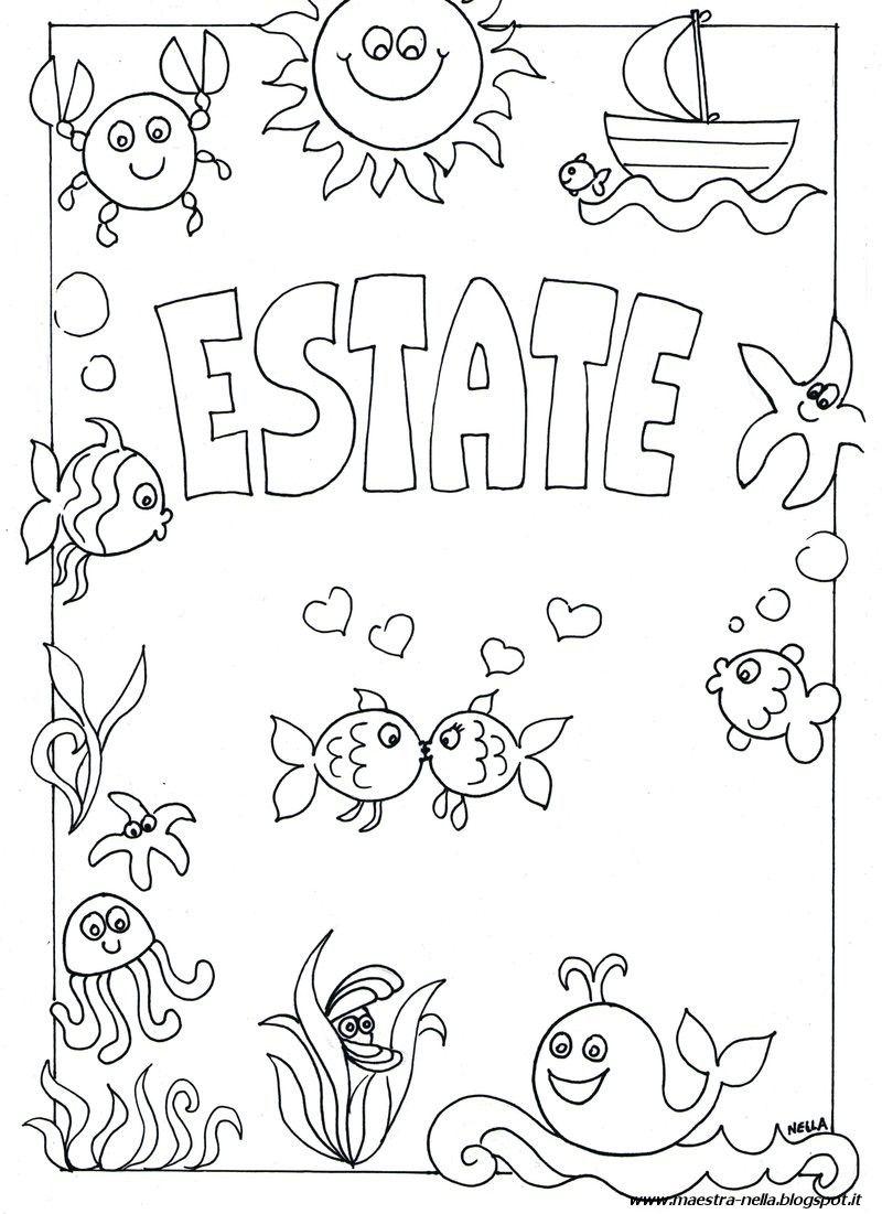 Disegni Da Colorare Estate Per Bambini.Disegni Idee E Lavoretti Per La Scuola Dell 39 Infanzia E Non Solo Disegni Da Colorare Estate Le Idee Della Scuola Scuola