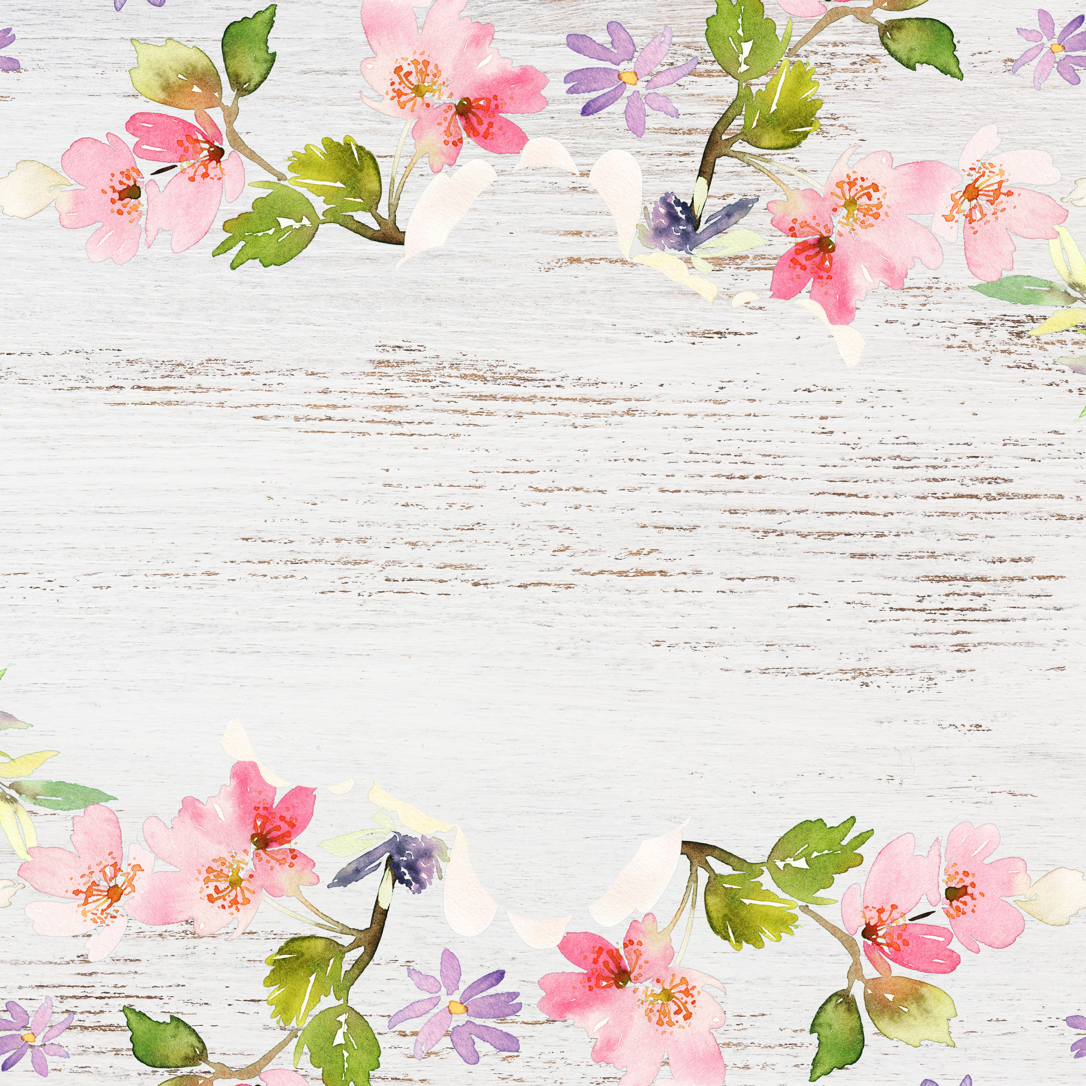 Delightful Distressed Floral Digital Paper Free Pretty Things For You Vintage Floral Backgrounds Watercolor Wallpaper Iphone Scrapbook Images