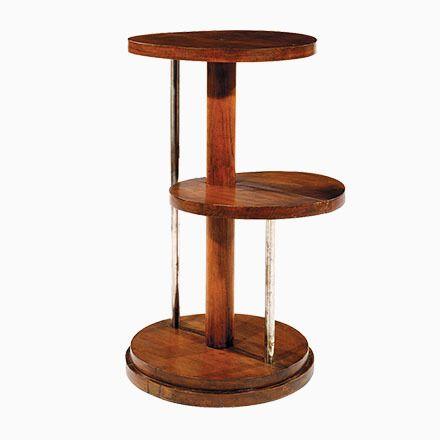 Modernistischer Vintage Eichenholz Beistelltisch von Michel Dufet ...