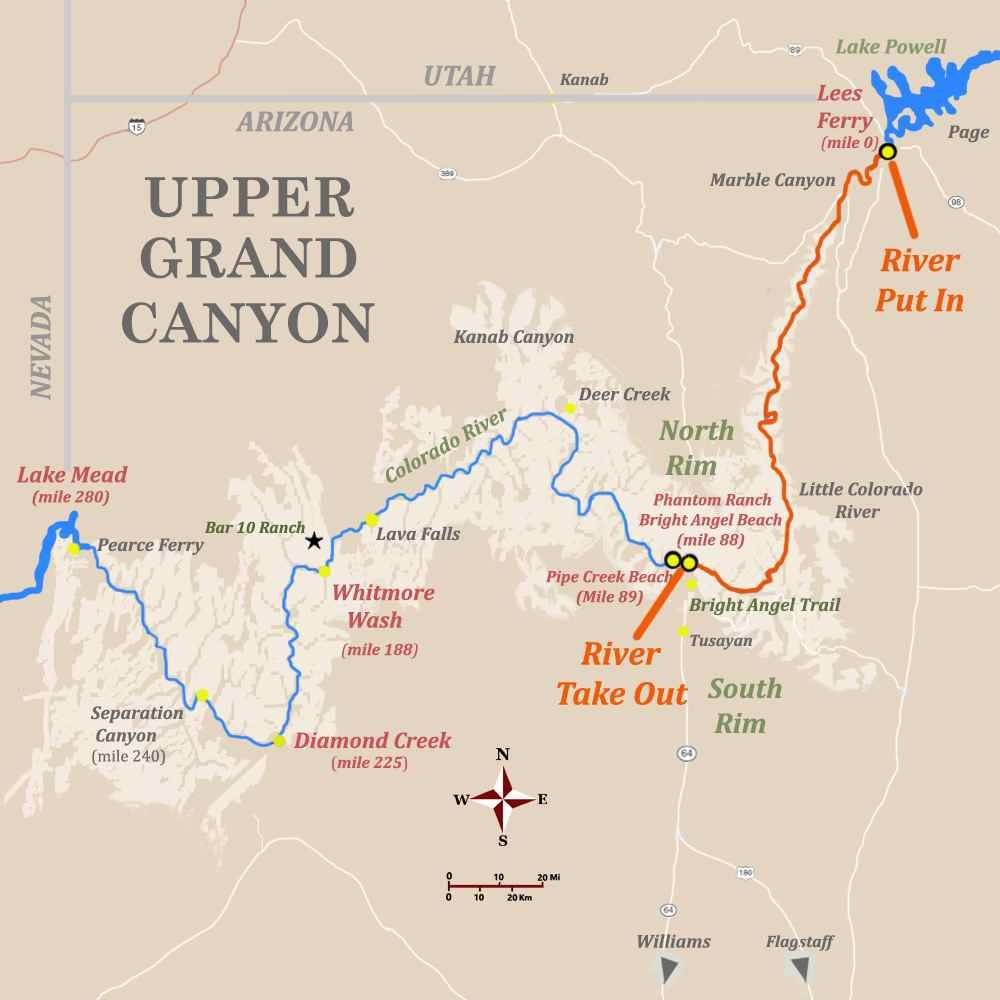 Route Options Availble With Adventure Grand Canyon Grand Canyon