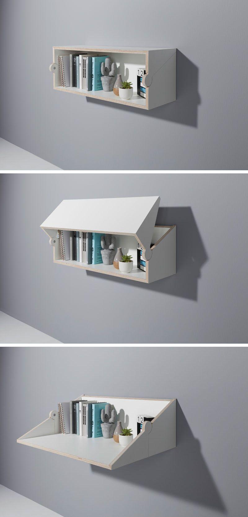 Une Etagere Bureau Parfaite Pour Les Tiny Houses Tiny House France Idees De Meubles Deco Maison Rangement Maison