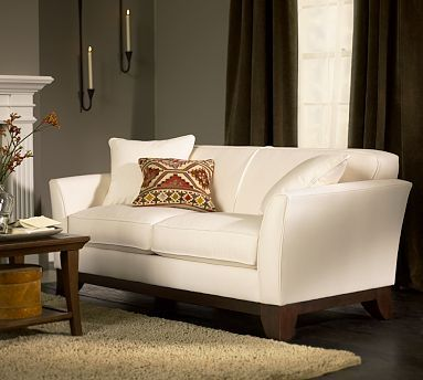 Greenwich Love Seat Potterybarn Like It In Everydaysuede Pewter Or Light Wheat