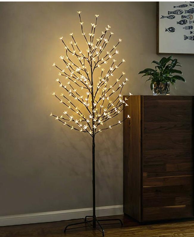 Twinkle Star 6 Feet 208 Led Cherry Blossom Tree Light Outdoor Christmas Lights Tree Lighting Tree Lamp