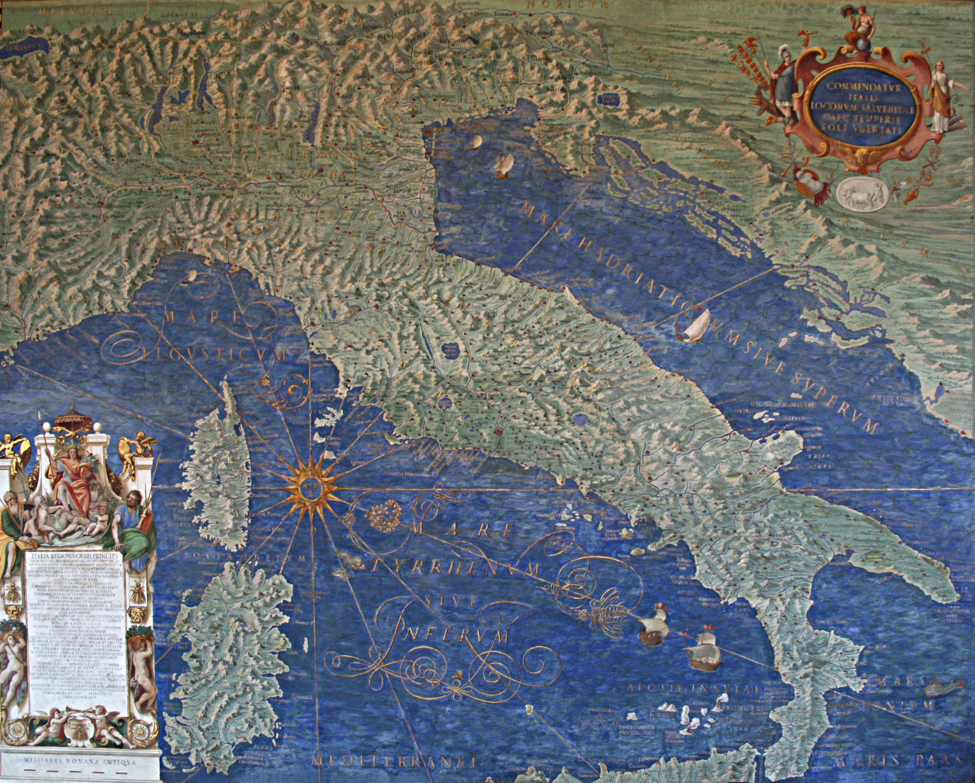 Mappa di italia di corsica e sardegna galleria delle carte mappa di italia di corsica e sardegna galleria delle carte geografiche the gallery of maps musei vaticani affresco di ignazio danti1580 1583 thecheapjerseys Images
