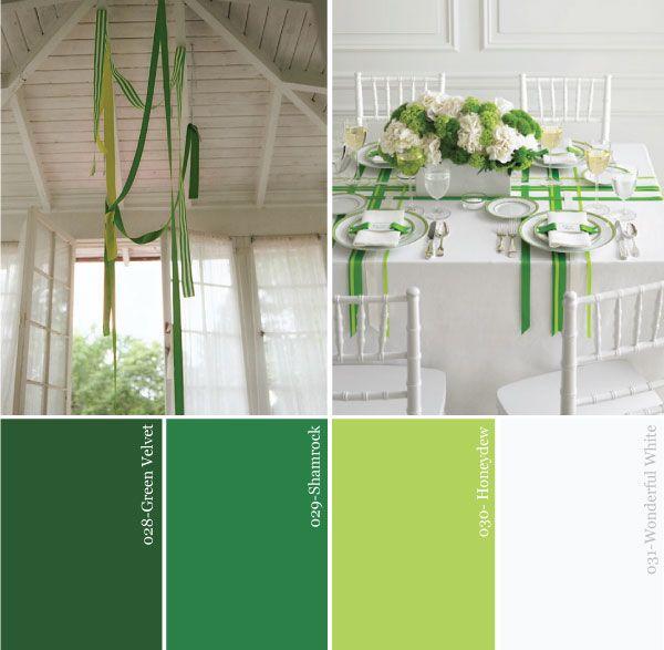 Kiss Me Im Irish Green White Saint Patricks Day Party Color Palette