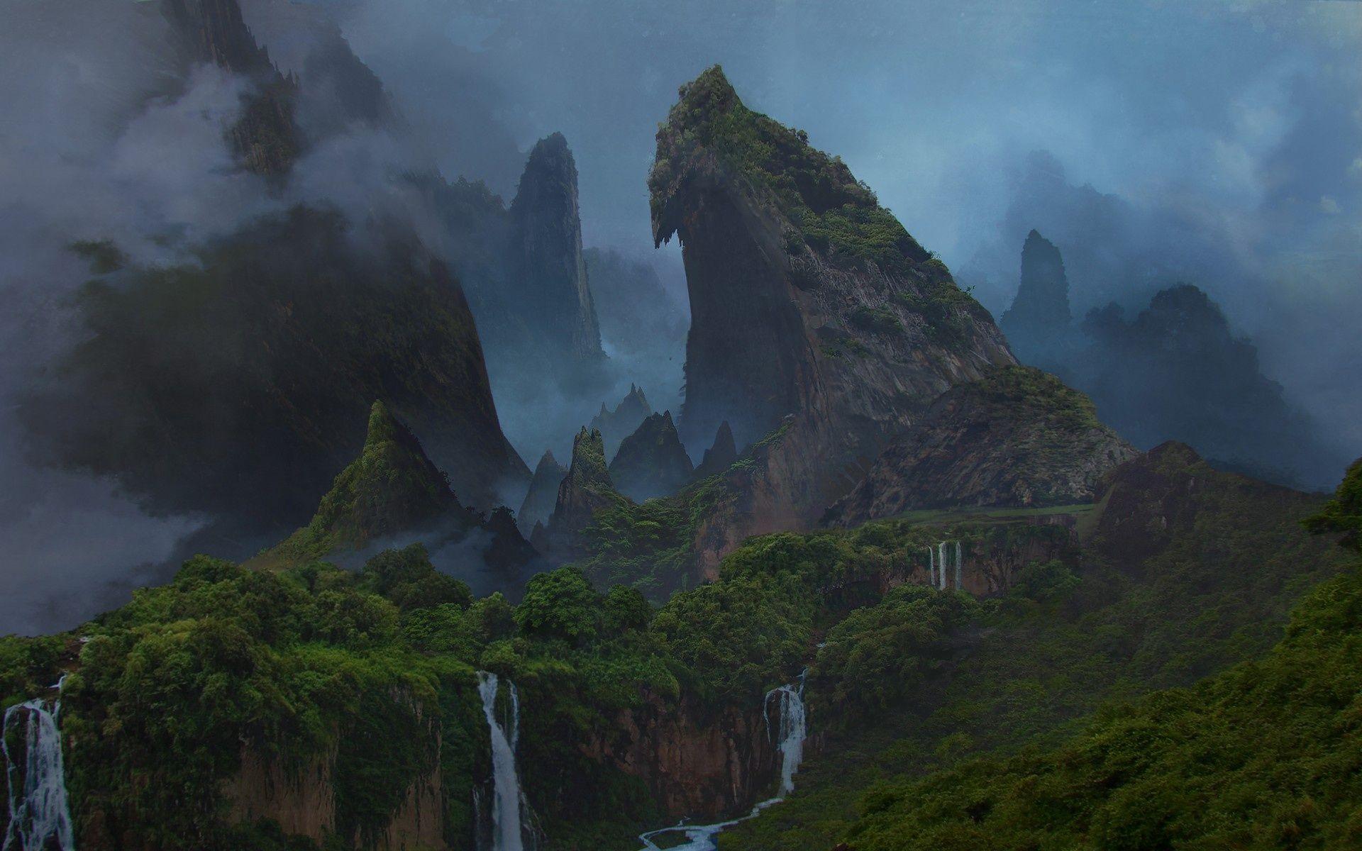 Uncharted 4 Concept Art World Uncharted Fantasy Landscape