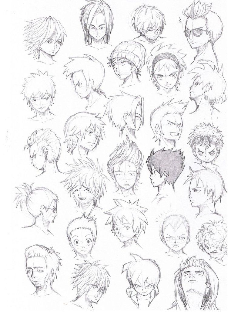 various hairstyles male by Komodo92Tenbinza on DeviantArt