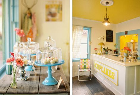 Enjoy Cupcakes. A welcoming and adorable retail interior. Some people just get it SO right.