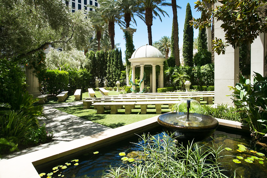 The Venus Garden features a Romanstyle temple, a relaxing