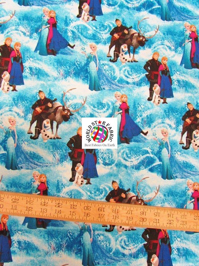 Disney Frozen Cotton Fabric Characters | Frozen fabric ...