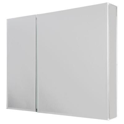 Glacier Bay 30 In X 26 Recessed Or Surface Mount Medicine Cabinet With Bi View Beveled Mirror Silver 4453 The Home Depot