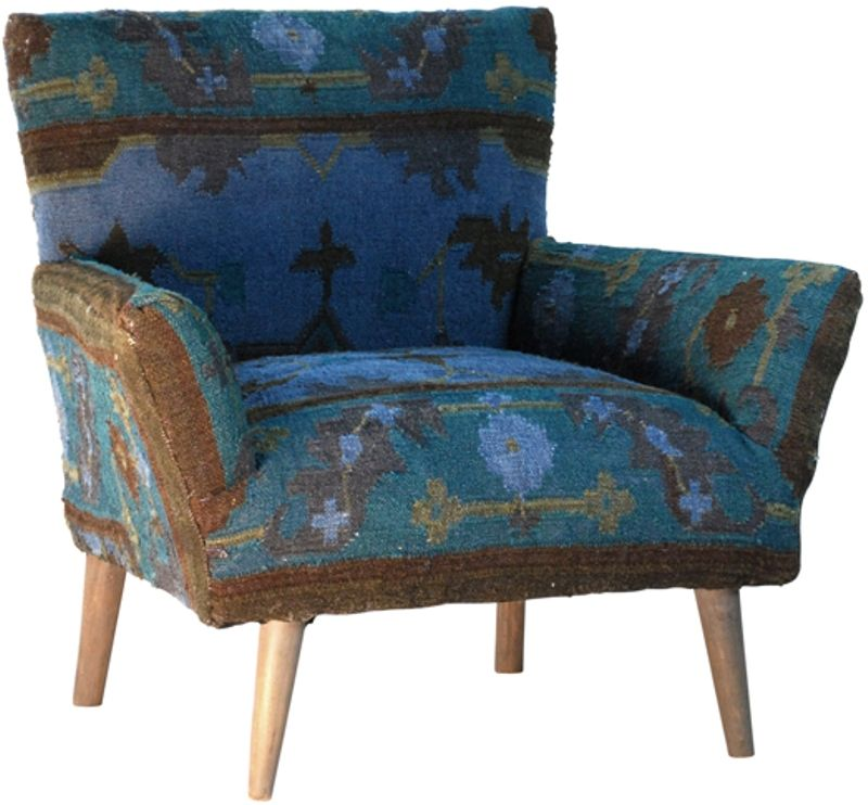 Kilim armchair blues browns http www for Children s armchairs 10 of the best