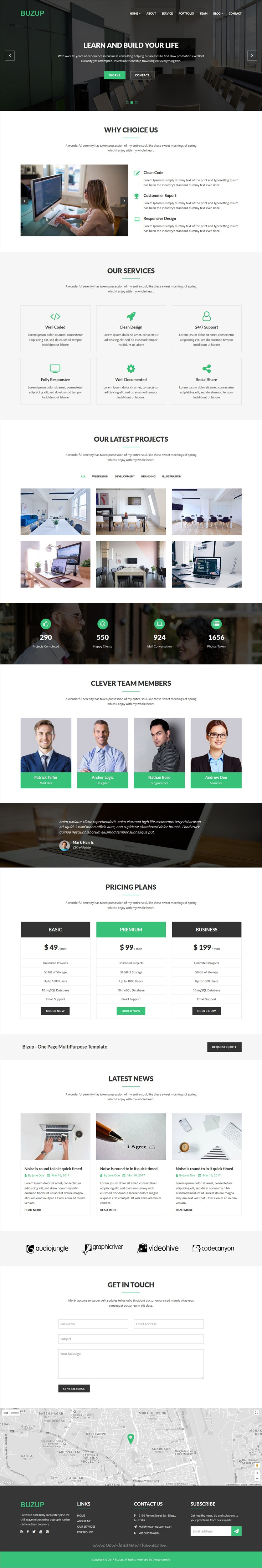 Buzup is clean and modern design 2in1 responsive bootstrap template
