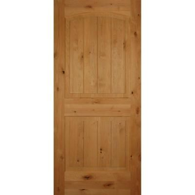Builders Choice 30 In X 80 In Left Handed 2 Panel Arch Top Unfinished V Grooved Solid Core Knotty Alder Single Prehung Interior Door Hd1628s26l The Home Dep Prehung Interior Doors Doors Interior Pine
