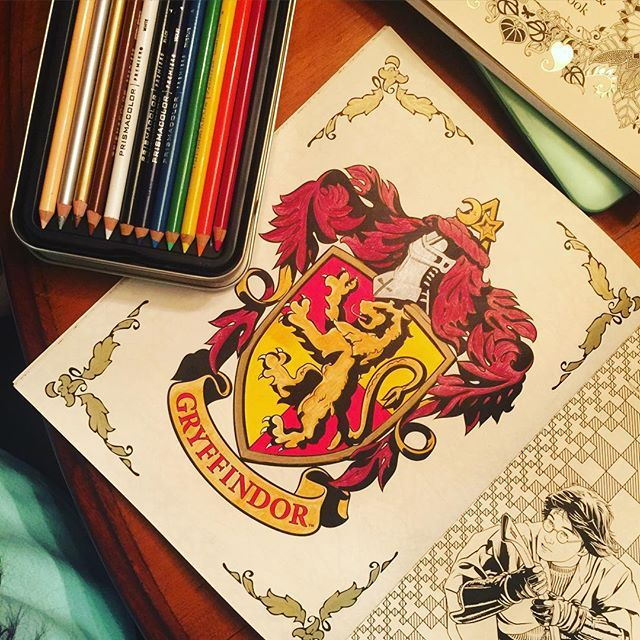 mulpix finally finished a coloring page in my harry potter coloring book loving my