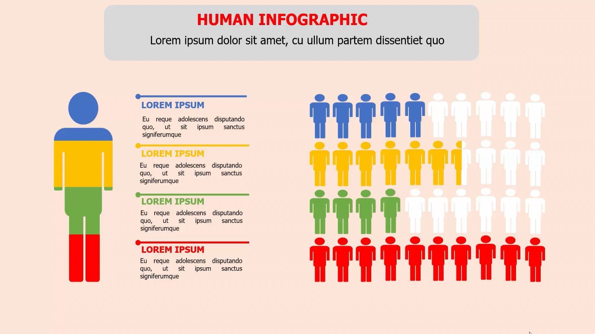 4 Steps Human Infographic Powerpoint Template 2018 Create A