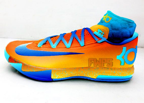 Nike Zoom KD 6 White Blue Orange