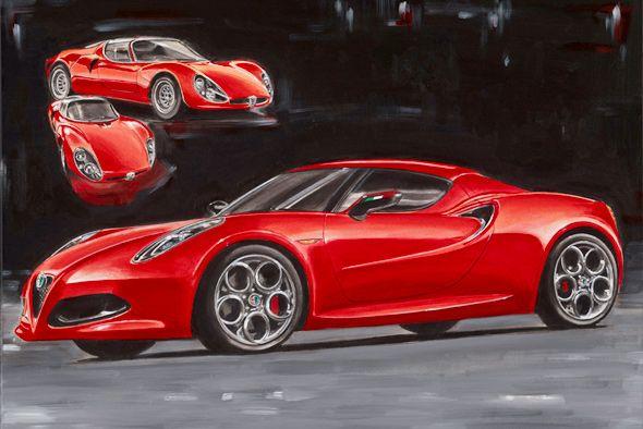 Yagli Boya Araba Tablolari Google Da Ara Sports Car Car Vehicles