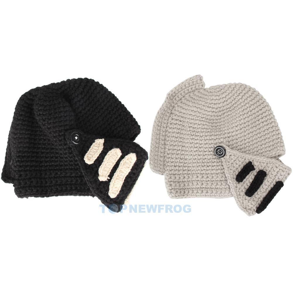 c4c49e15bc2 Cool Womens Men Knit Winter Warm Ski Beanie Wool Roman Knight Helmet Hat Cap