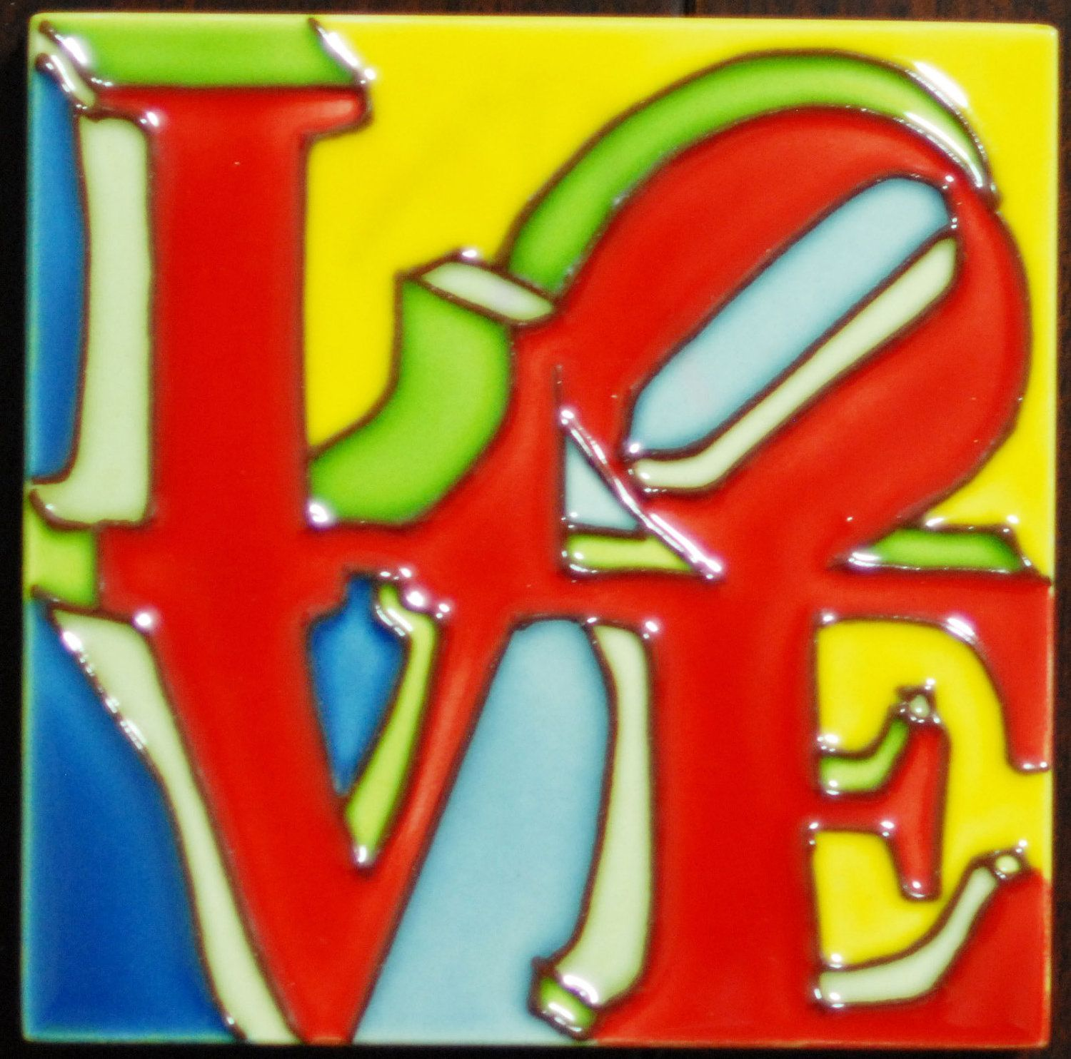 "Ceramic Art Tile of Philadelphia ""LOVE""."