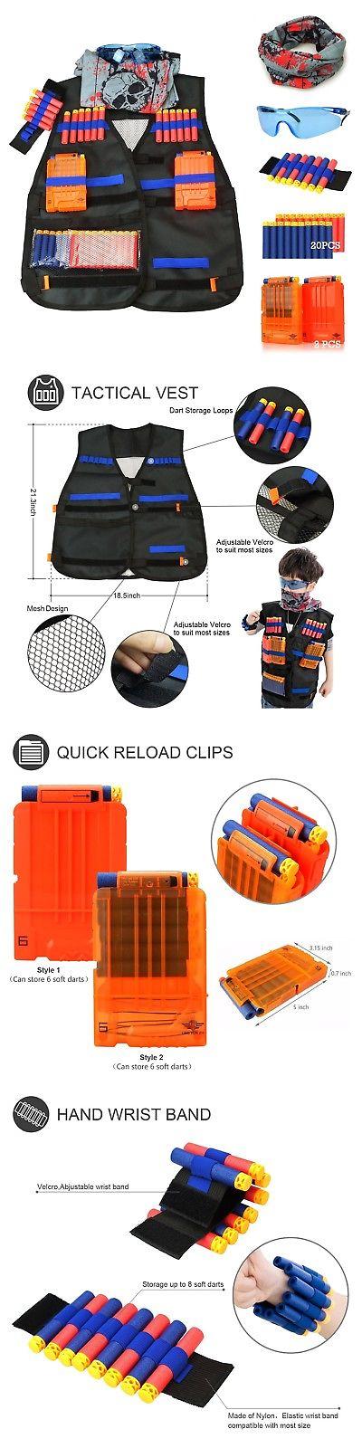 Dart Guns and Soft Darts 158749: Tactical Vest Kit For Nerf Guns N-Strike