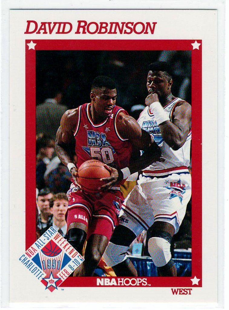 Basketball Trading Cards 1991 NBA Hoops David Robinson