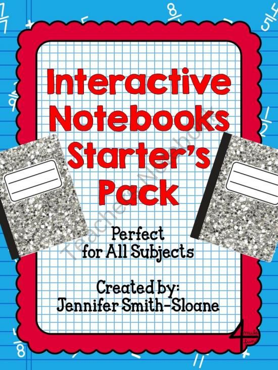 Interactive Notebook Starter Pack for ALL SUBJECTS from 4mulaFun on TeachersNotebook.com (30 pages)  - Interactive Notebook Starter Pack for ALL SUBJECTS $4.50