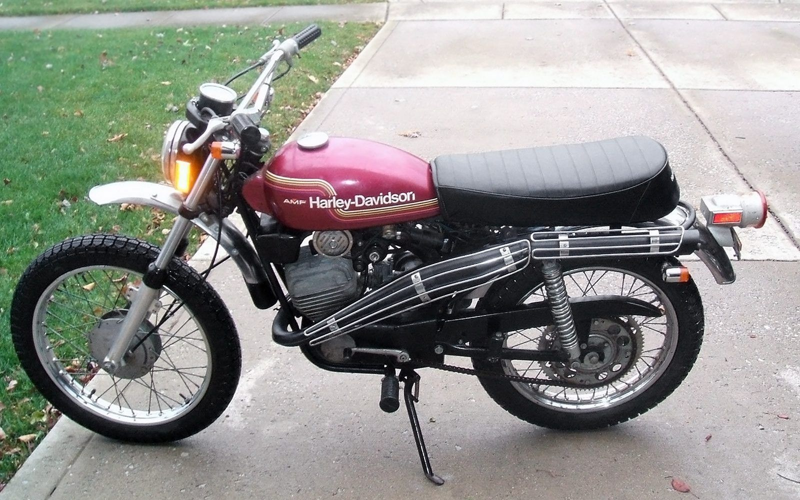 328 Mile Italian 1974 Harley Davidson Sx 125 With Images Harley Davidson Amf Harley Harley