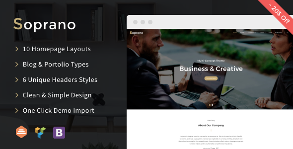 Download WordPress Soprano - Clean Multi-Concept WordPress Theme ...