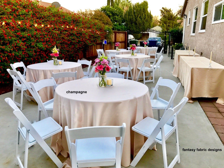 Tablecloth Wedding Tablecloth Lamour Satin Tablecloth Table Etsy In 2020 Wedding Tablecloths Table Cloth Elegant Tablecloth