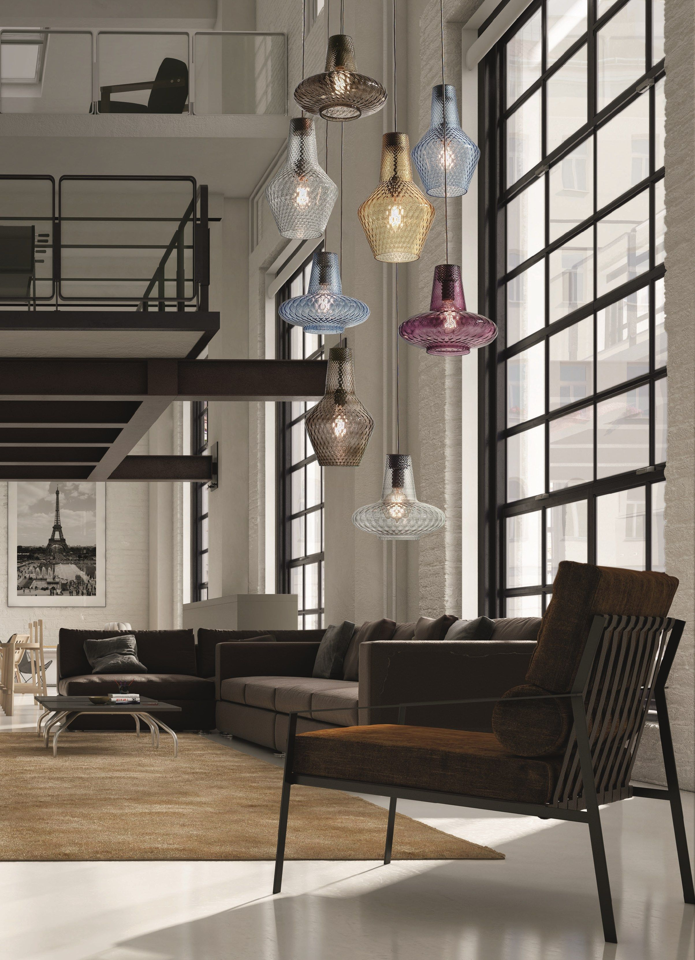Blown Glass Pendant Lamp Romeo E Giulietta By Federicodemajo Design Federico De Majo Glass Pendant Light Glass Pendant Lamp Blown Glass Chandelier