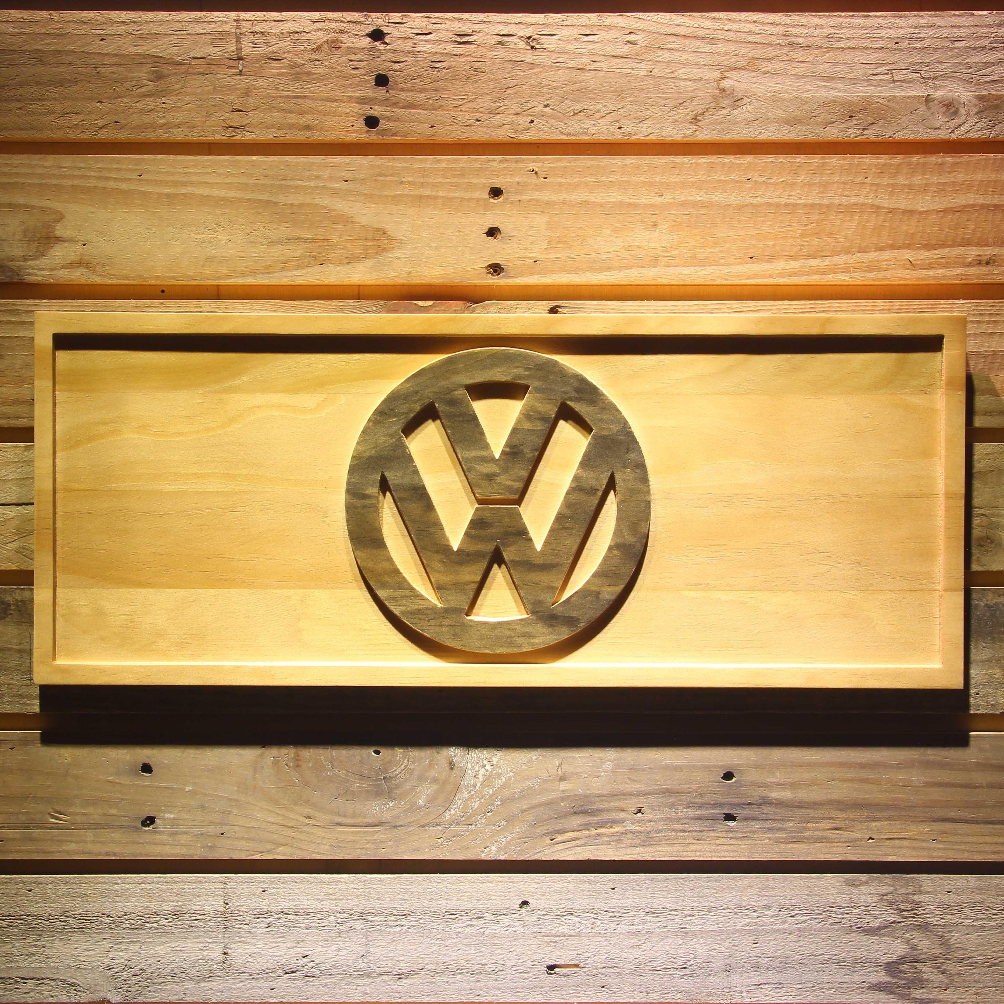 VW Volkswagen 3D Wooden Bar Sign