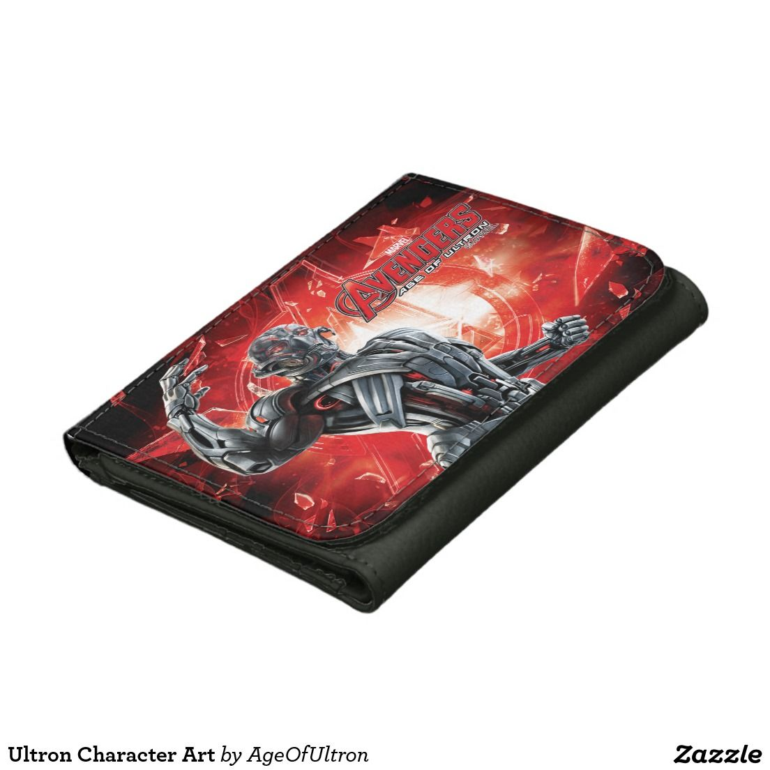 Ultron Character Art Leather Trifold Wallet