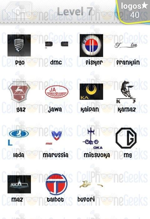 logo quiz cars answers level 7 logo quiz cars answers pinterest cars and car logos. Black Bedroom Furniture Sets. Home Design Ideas