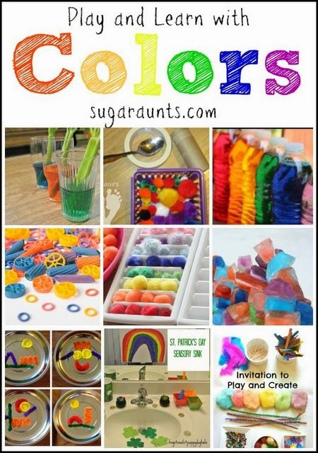 Colorful ways to learn and play | Art fun | Preschool color theme ...