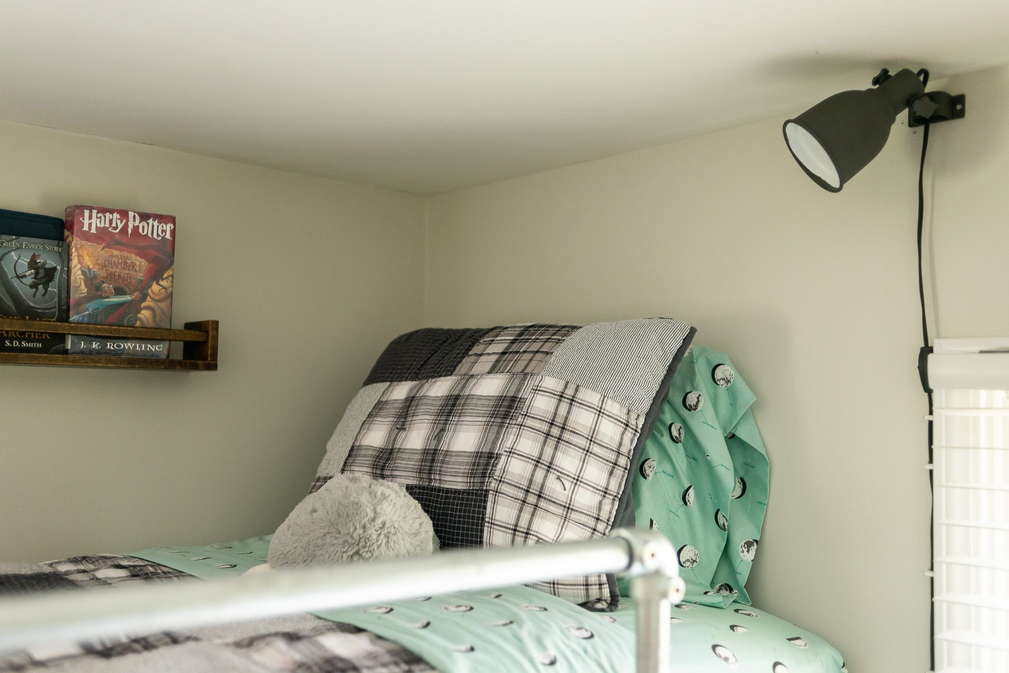 Loft Bed For Boys Room The Wall Lamp Shown Is