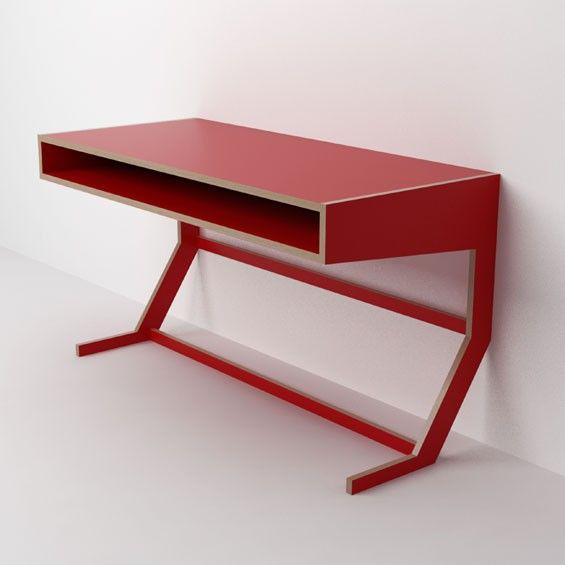 red desk palos Pinterest Diseño muebles, Escritorios y Tocador