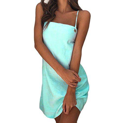 b4158a39b3826 OHQ Robe Longue sans Manches ImpriméE Lady Bleu à Imprimé Soldes Femme Chic  Soiree Grande Taille
